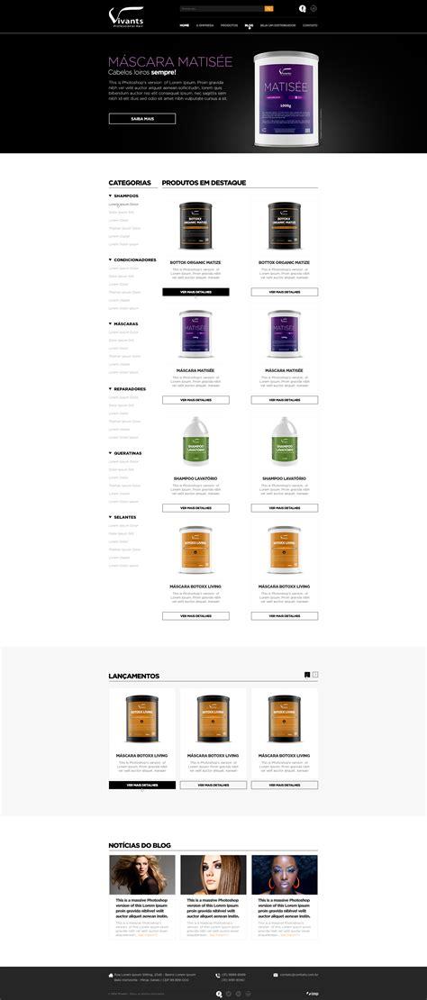 website templates for photoshop cs6 layout home cliente vivants professional hair