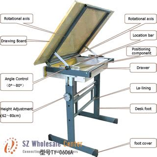 Adjustable Drafting And Drawing Table Sliding Angle Drafting Table Angle