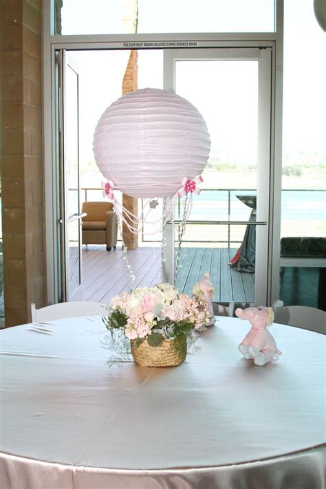 How To Make Air Balloon Table Decorations by Air Balloon Centerpieces Babyshower Trendee S