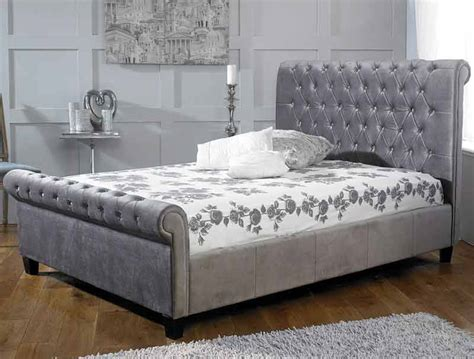 limelight orbit plush silver bed frame dublin beds
