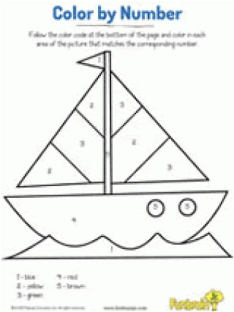 sailboat numbers free color by number color by letter coloring pages for