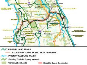 map of the florida trail coast to coast connector commute orlando