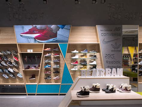 sport shoe stores beat sneakers branding by linii and shopworks