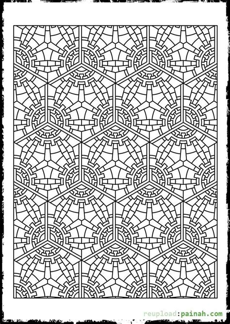 tessellation patterns coloring pages coloring pages tessellations coloring home