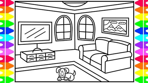 Drawing Living Room - how to draw a living room for living room drawing
