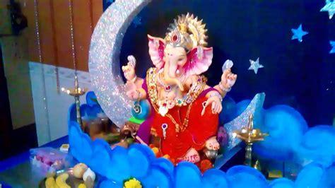 home ganpati decoration  bhavik rathod youtube