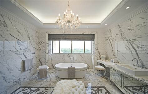 villa luxury bathroom interior design by european style