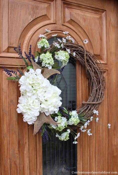 Hydrangea Wreaths For Front Door Make A Hydrangea Wreath For Your Front Door