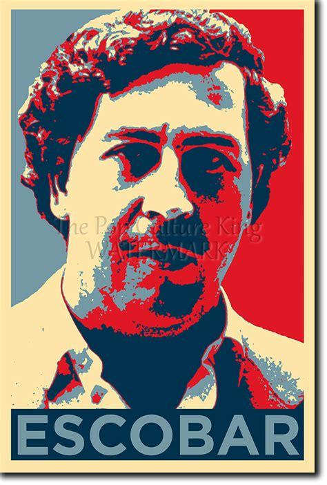 pablo escobar art photo print obama hope parody poster
