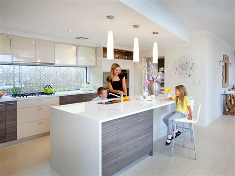 straight line kitchen with island low level slimline this has the window splashback shows the different colour