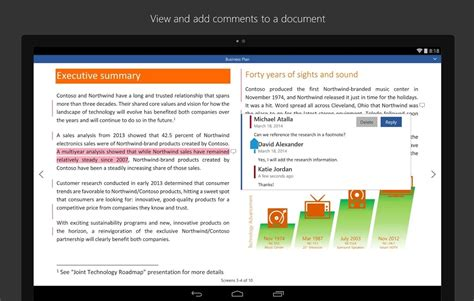 ms office for android microsoft office for android tablets now available