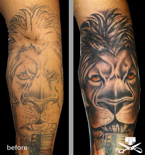 tattoo fixers lion rasta lion tattoo on side