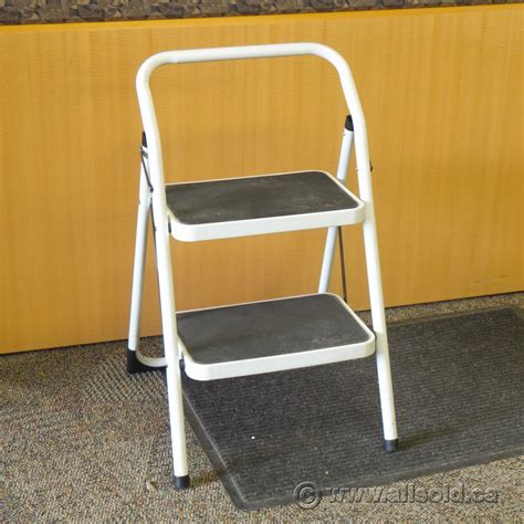 White 2 Step Stool by White 2 Step Folding Step Stool Allsold Ca Buy Sell