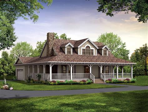Farmhouse Plans With Porches by Country Farmhouse Plans With Wrap Around Porch
