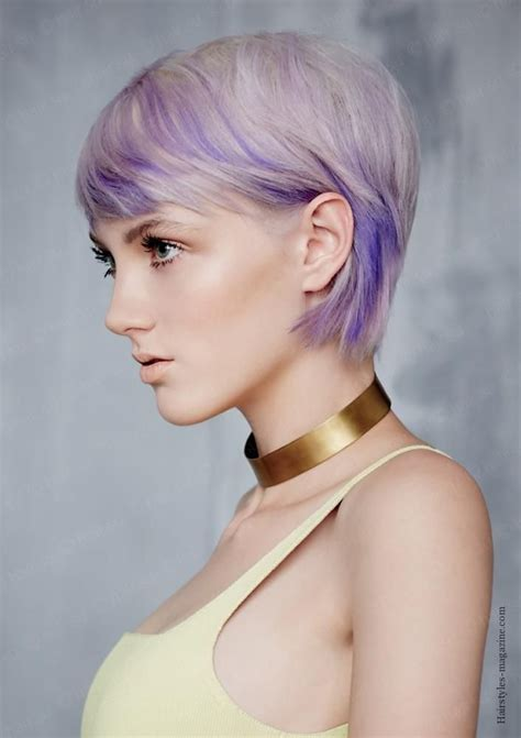 funky hairstyle for silver hair lilac shade bob cut all about funky bob haircuts 2013 2014