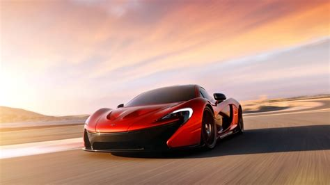 mclaren p concept red desktop wallpaper