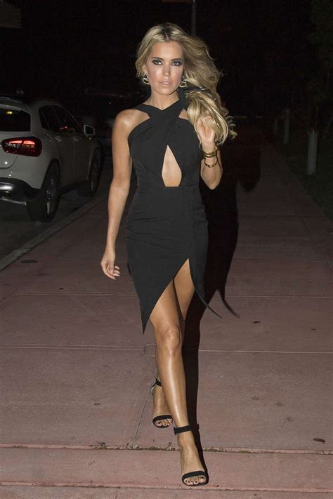 Sylvie Dress sylvie meis in a black dress out in miami indian