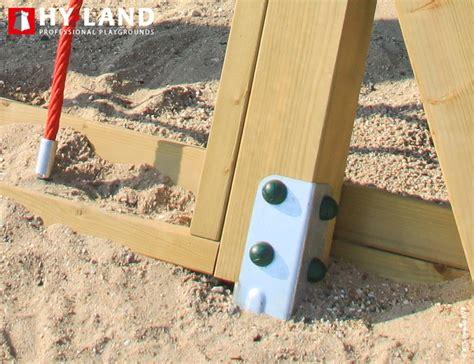 Bodenanker Ohne Beton by Bodenanker Verankerungsset F 252 R Hy Land Spielturm Schaukel