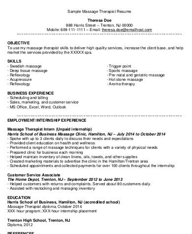 spa therapist cv exle therapist resume images cv letter and format sle letter
