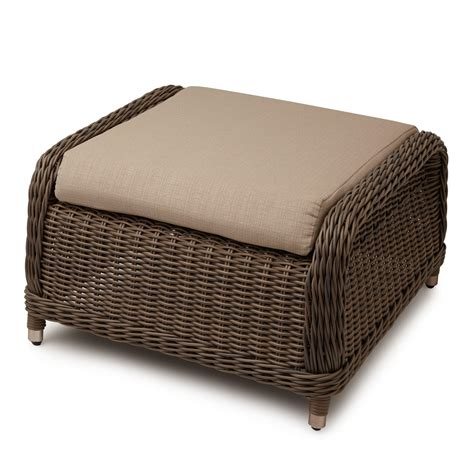 wicker chair and ottoman alcee resin wicker sofa and cushion outdoor