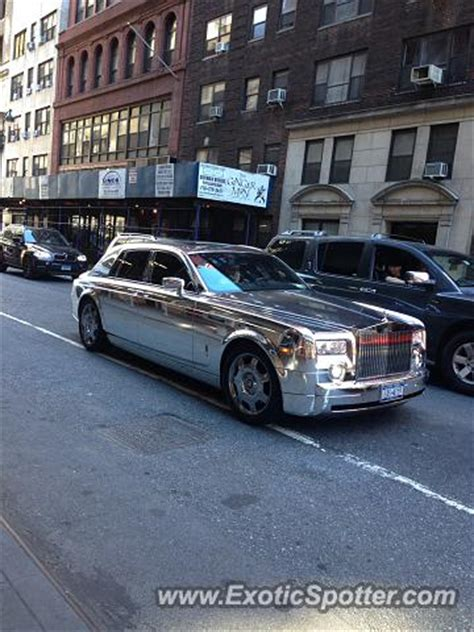rolls royce phantom spotted in new york city new york on