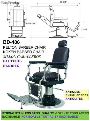 sillon de caballero barbero estilo antiguo
