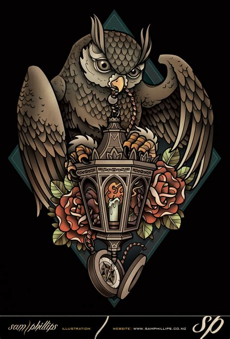 lantern owl tee by sam phillips nz on deviantart