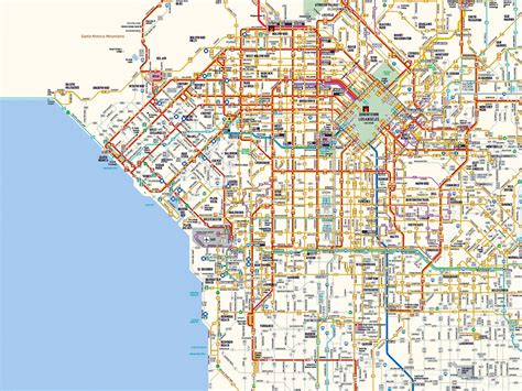 map los angeles west los angeles starbucks and map los angeles ca mappery