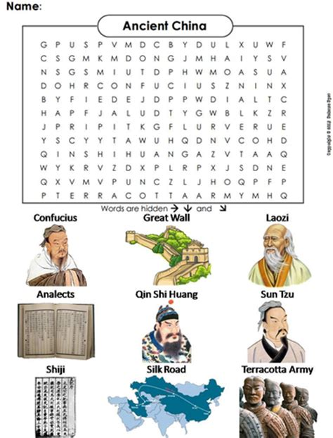 China Search Ancient China Word Search By Sciencespot Teaching Resources Tes