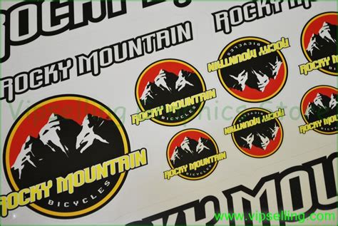 Mountainbike Aufkleber by Rocky Mountain Mtb Bike Cycle Frame Decals Stickers
