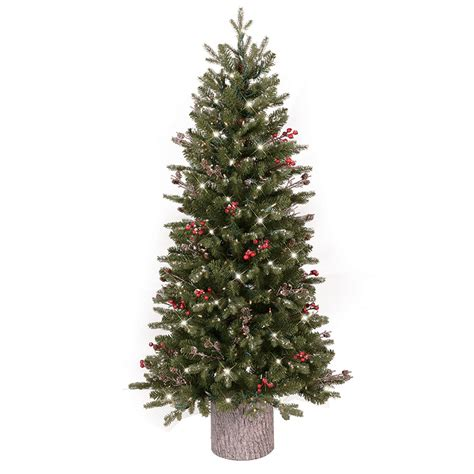 lowes christmas tree lights shop ge 4 5 ft pre lit frasier fir slim flocked artificial tree with 200 sparkling