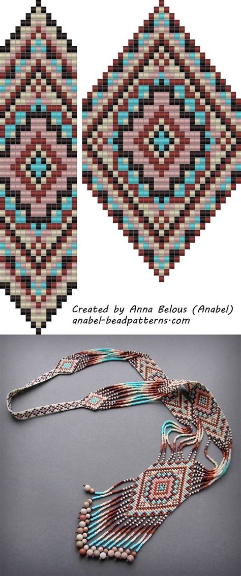 pattern split free bead patterns split loom necklace beadwork