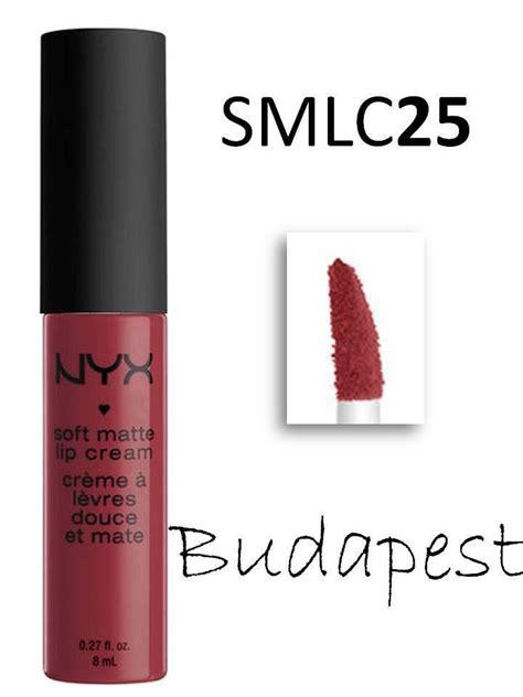 nyx soft matte lip smlc 25 budapest moist lipstick mauve w ebay