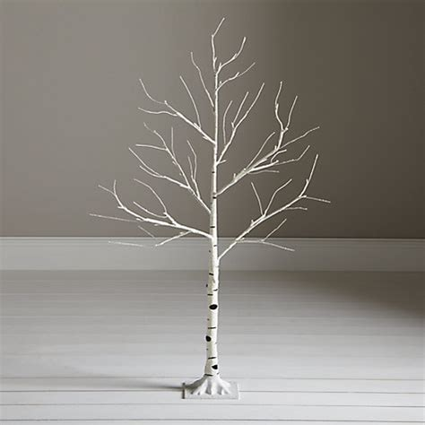 buy john lewis pre lit paper birch christmas tree white