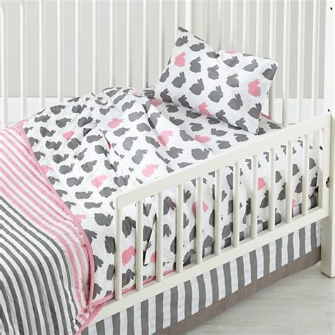 Beglance Cotton Rabbit Bed Sheet hop to it toddler bedding bunnies the land of nod