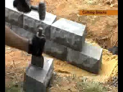 Planter Border Ideas by How To Cut Retaining Wall Blocks Youtube