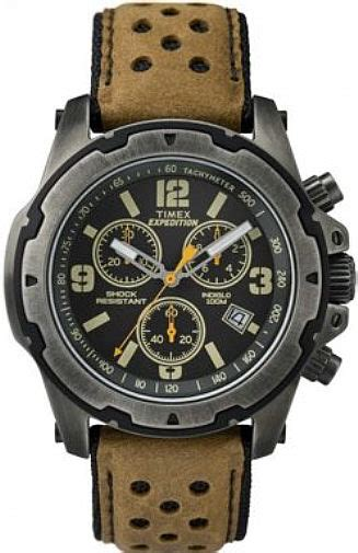 Expedition E6402 Gold Black Stainless For Original s timex expedition chronograph tw4b01500