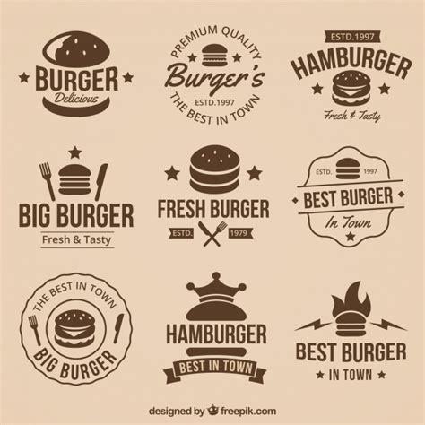 imagenes de logos geniales colecci 243 n vintage de geniales logos de hamburguesas