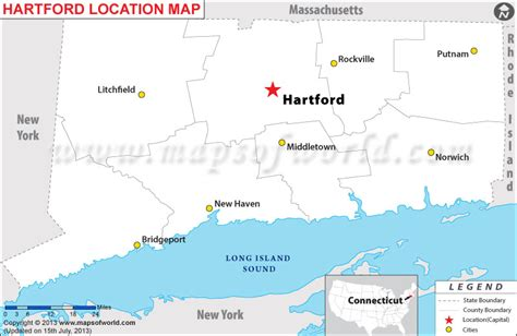 hartford usa map where is hartford located in connecticut usa