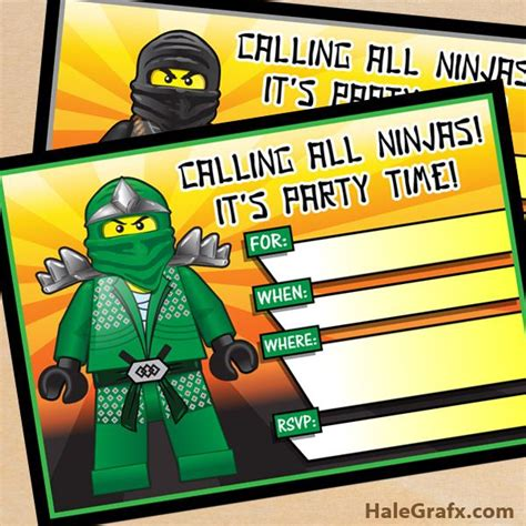 printable lego invitation cards ninjago party invites free printable lego ninjago birthday