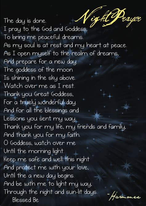 witches prayer wicca