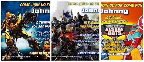 transformers birthday invitations printable