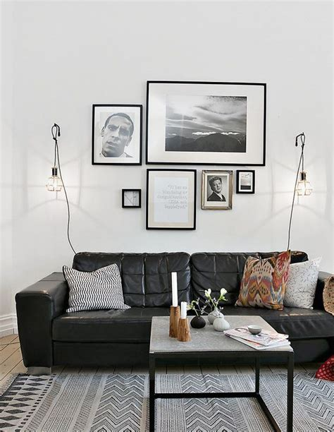living room decor black leather sofa best 25 black leather couches ideas on black