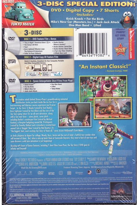 32 stories special edition blu ray dvd exclusives toy story 3 walmart exclusive 3 disc special edition dvd
