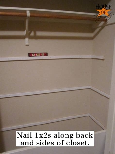 Install Shelves In Closet by How To Install Shelves In A Closet