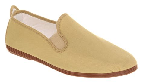 mens flossy flossy plimsole beige canvas casual shoes ebay