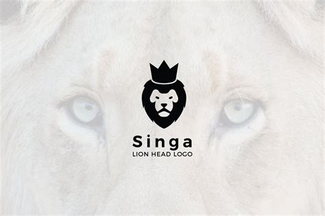 singa negative space lion logo logo templates