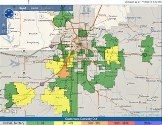 kcpl outage map capt spaulding s world severe storms cause damage on