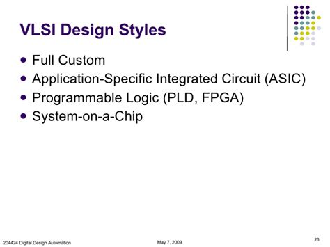 vlsi design application introduction to vlsi