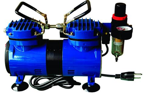 paasche da400r air brush compressor 1 4 hp with auto shutoff regulator and moisture trap